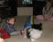 Kayden Dorma and Hanavese Dog